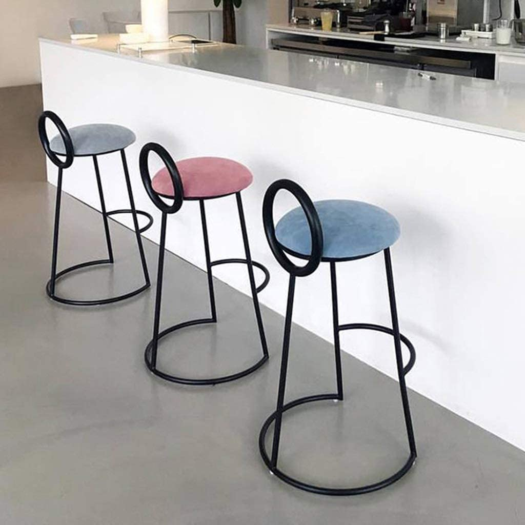 QenDsx Iron Bar Bar Chair/Nordic Front Desk High Table Stool Tea Shop Coffee Shop Chair American Bar Stool