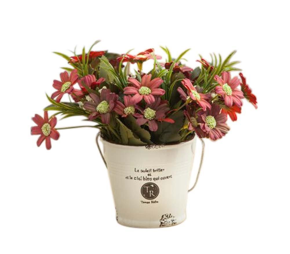 elegant Simulationsanlage künstliche rote Gänseblümchen dekorativen Topfpflanzen