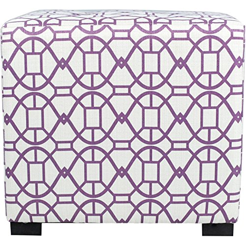 MJL Furniture Designs Square Tufted Ottoman with a Contemporary Noah Design and Upholstered 4 Button Top Tuft, 19'' x 19'' x 17'', Vinvi by MJL Furniture Designs