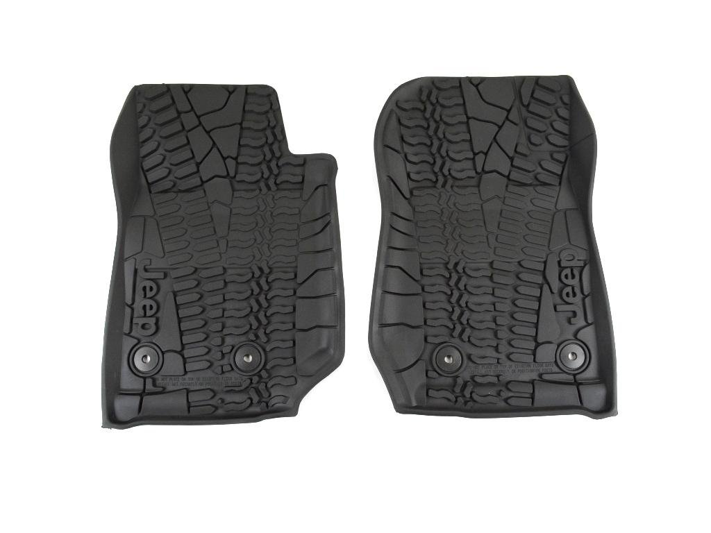 Kitchen Rubber Floor Mats Amazoncom Mopar 82213860 Black All Weather 3 Piece Floor Mat Set