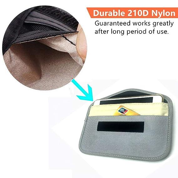 Amazon.com: Faraday Bolsa, RFID, bolsa de bloqueo de señal ...