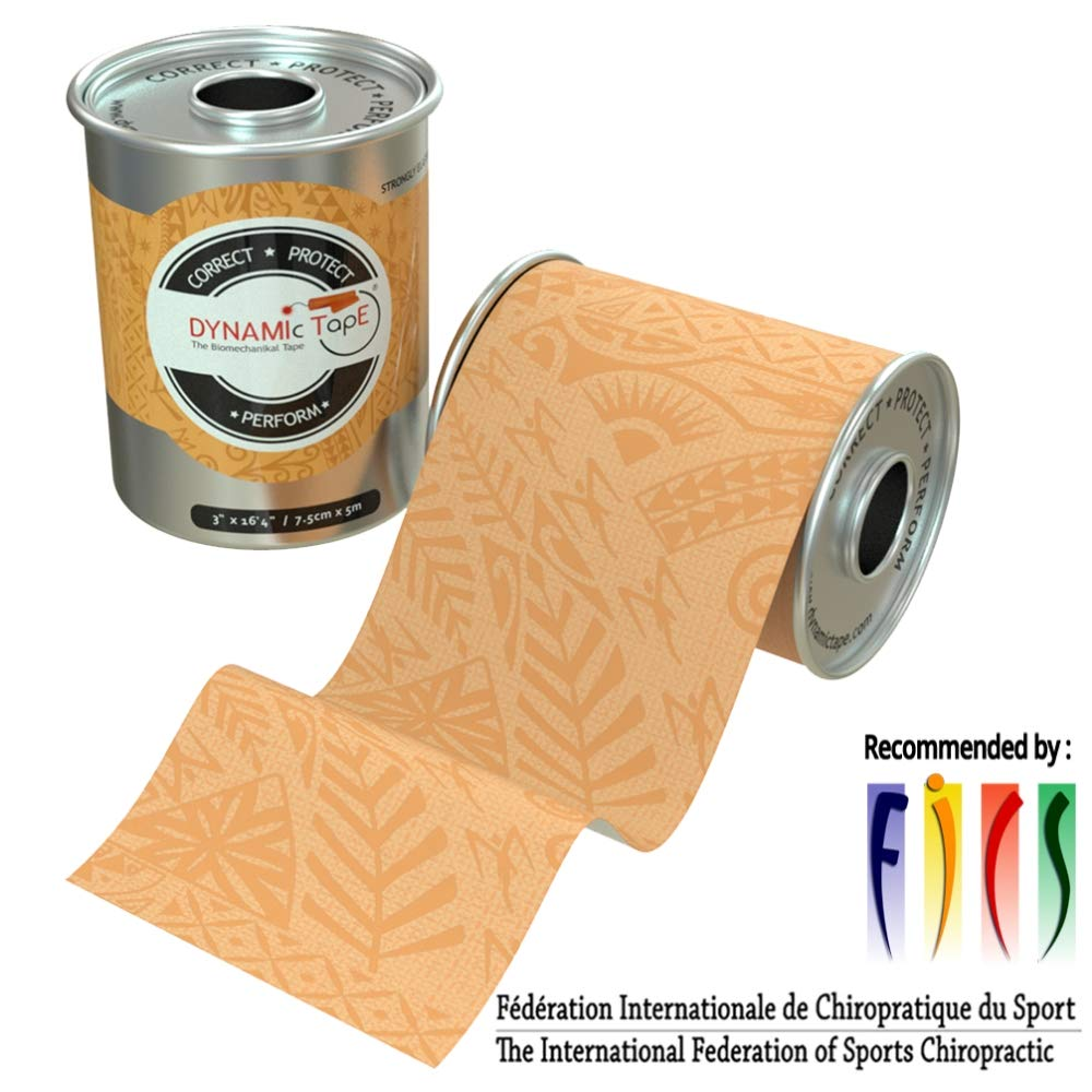 Dynamic Tape Beige Biomechanical, 3 inches by 16.4 feet, Therapeutic, Sports, Clinician Designed for Performance Fitness Athletes, Protect & Assist Motion, Injury Recovery, Hypoallergenic & Latex Free by Dynamic Tape