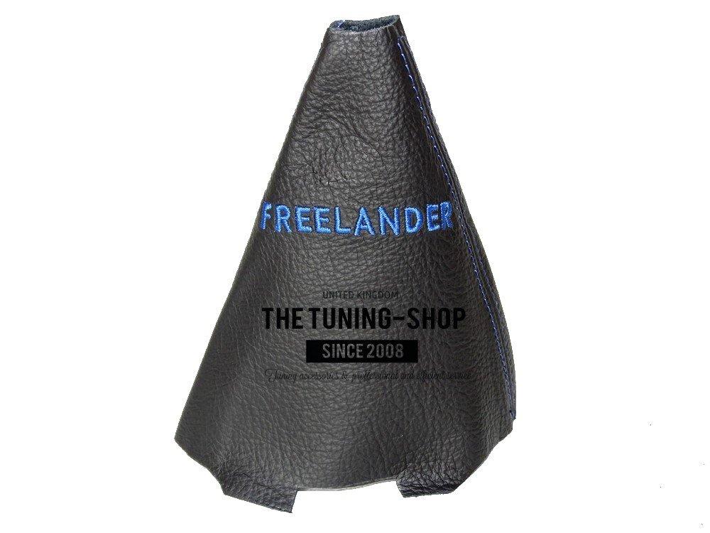 automatico cambio nero in pelle blu Freelander ricamo