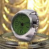 HHei_K Couples Ring Watch Dial Quartz Analog