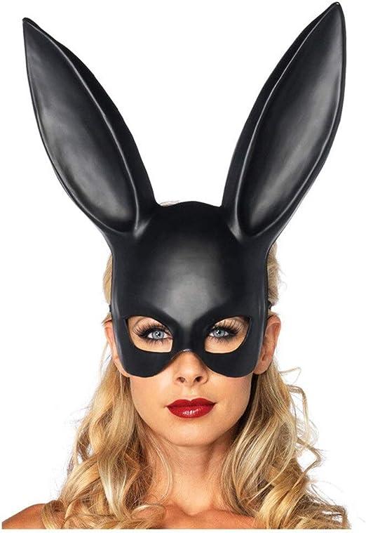 7°MR Mascara Purga Disfraz Máscara Black Bondage Bunny Rabbit ...