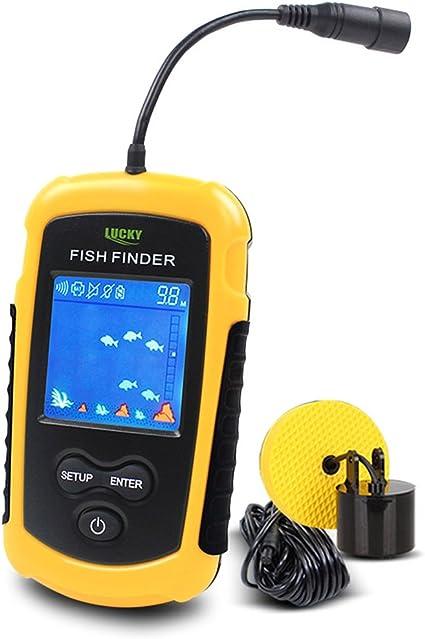 LUCKY Ecosondeur P/êche D/étecteur de Poisson Couleur Sans Fil Portable Fish Finder
