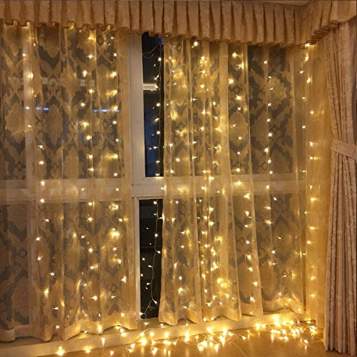 DLIUZ UL Safe 304 LED 9.8Feet Connectable Curtain Lights Icicle Lights Fairy String Lights with 8 Modes for Wedding Party Family Patio Lawn Decoration by DLIUZ (Image #4)