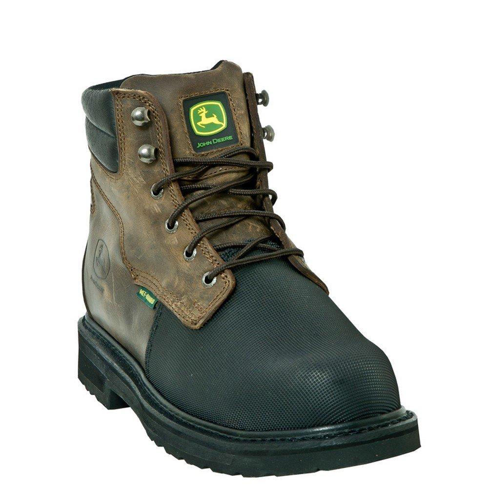 John Deere Men's 6'' FR Met Guard Boots,Brown,9 W