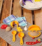 DS 14 Pcs Plastic Food Mould Combo for Kachori, Samosa, Cutlet, Karanji, Ladoo, Prasad Scoop, Cutter, Modak(Multicolour)