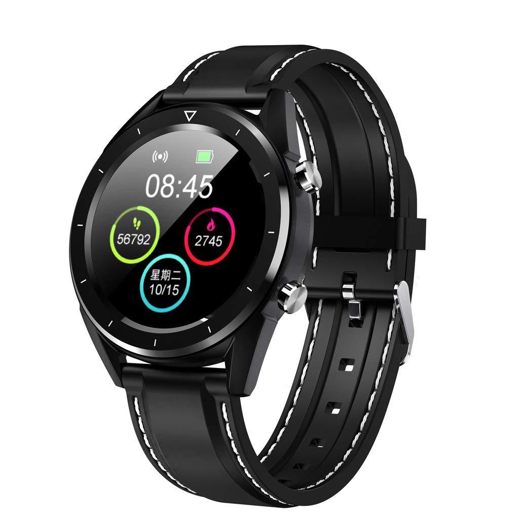 CMrtew DT28 Sport Smart Watch Support Heart Rate ECG Blood Pressure Blood Oxygen Multiple Sports Fitness Tracker Smartwatch (Black 1)
