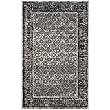 Safavieh Adirondack Collection ADR110B Ivory and Silver Vintage Distressed Area Rug (2'6' x 4')