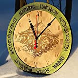 Mill times unique kitchen vintage style decor wooden wall clock emerald green. Personalized, housewarming, one-of-a-kind, victorian, gift Review
