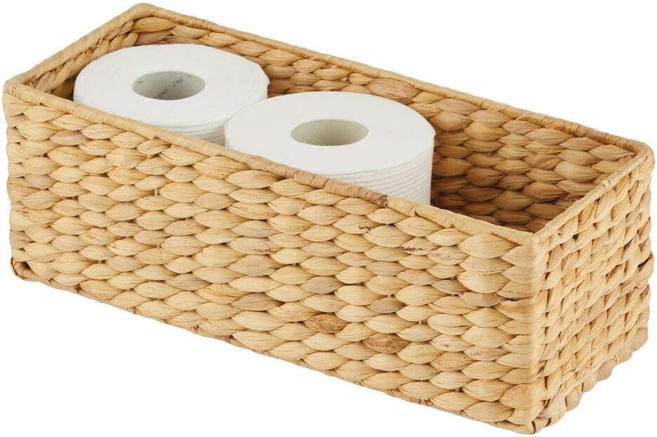 Shop Design Natural Woven Water Hyacinth Bathroom Toliet Roll Holder from Amazon on Openhaus