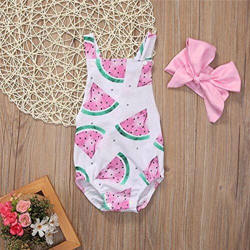 watermelon birthday - girls romper - baby romper - bodysuit - sunsuit - melon romper mo. 18/24 ()