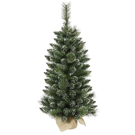 Amazon.com: Vickerman 3' Unlit Snow Tipped Pine and Berry ...