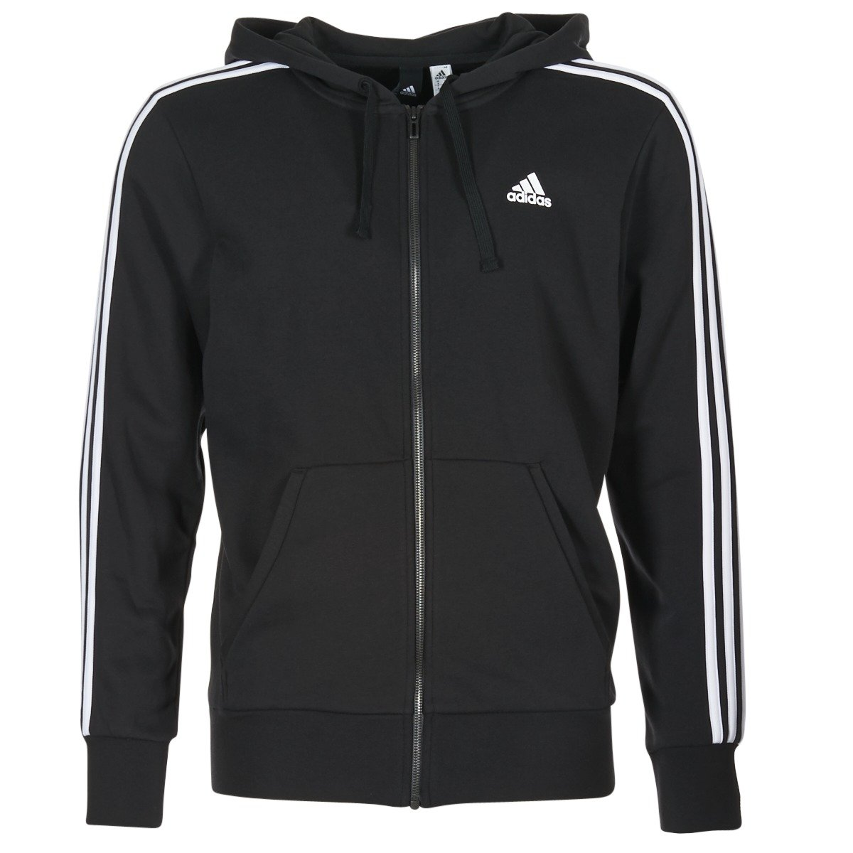adidas Men's Essentials 3 Stripes Full-Zip French Terry Hoodie S98786