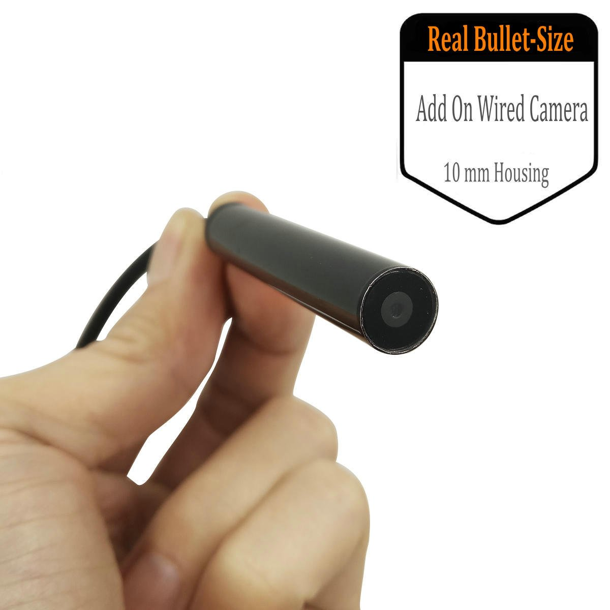 Mini 10MM Security Camera,FocusHD Real Bullet-Size 720P Covert Surveillance Camera Built with 60ft Extension Cable Compatible with AHD CVI DVR Recording System(Power Adapter Included)