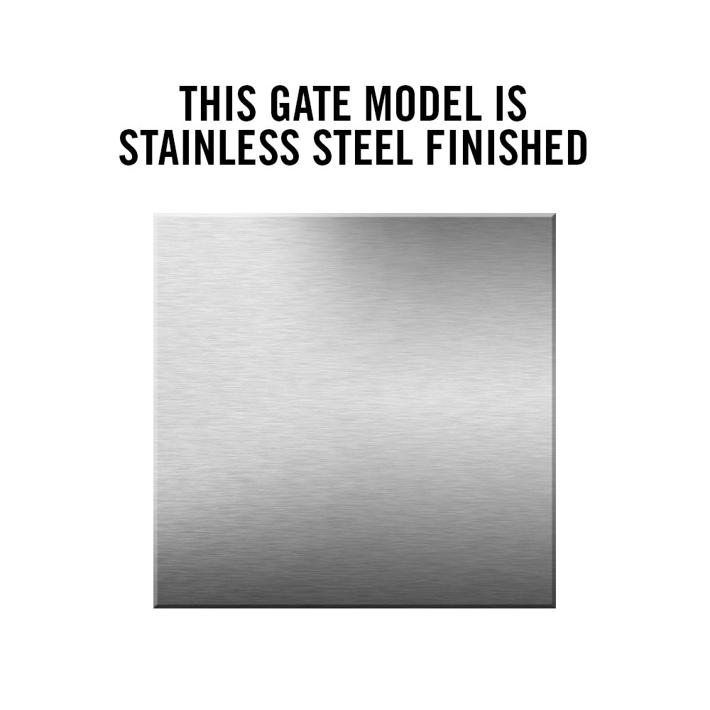 Safety Gate Company Self-Closing Gate for Square or Round Post Mount 30-36'' (Stainless Steel)