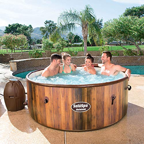Bestway 54190E SaluSpa AirJet Helsinki 6-Person Inflatable Jacuzzi Hot Tub, Bubbles Massage