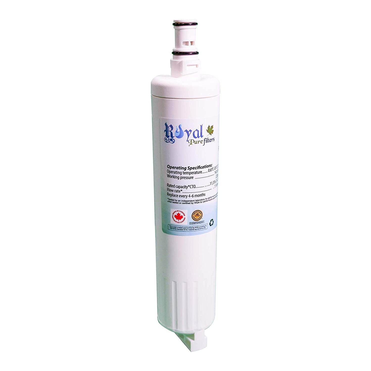Whirlpool 4396508 Compatible Refrigirator Water Filter RPF-4396508 by Royal  Pure Filters - fits in place of EveryDrop Ice & Water Refrigerator Filter