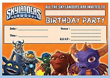 SKYLANDERS CHILDRENS BIRTHDAY PARTY INVITES INVITATIONS X 10 PACK