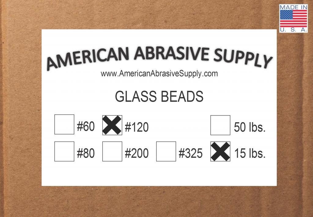 Glass Bead #120 Mesh Blasting Abrasive (15 lbs.)
