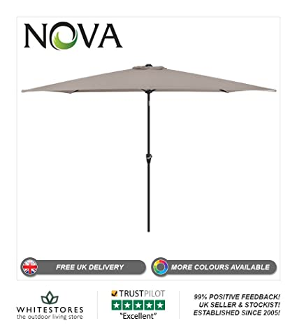 New Large 3M Garden Parasol Round Umbrella Patio Sun Shade Aluminium Crank Tilt