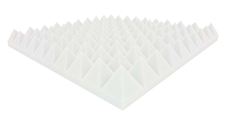 24/unidades Pir/ámides de Schall absorptions placas ac/ústicos Correcci/ón unos 50/x 50/x 6/cm /• Blanco /• Marca Dibapur