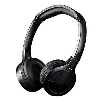 Jelly Comb Auriculares Audio TV RF Inalámbrico Recargable Estéreo Sin Latencia Reducción de Ruido Activa con Cable Jack 3.5mm + RCA -Negro