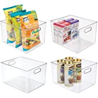 mDesign Plastic Storage Organizer Container Bins Holders with Handles - for Kitchen, Pantry, Cabinet, Fridge/Freezer…