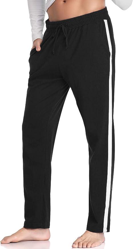 Hawiton Pantalones de Pijama Hombre Invierno Largo de Algodón ...