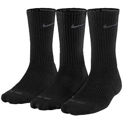 7a4b2a4e3 Nike Unisex Dry Cushion Crew Training Sock (3 Pair) (Black, Large)