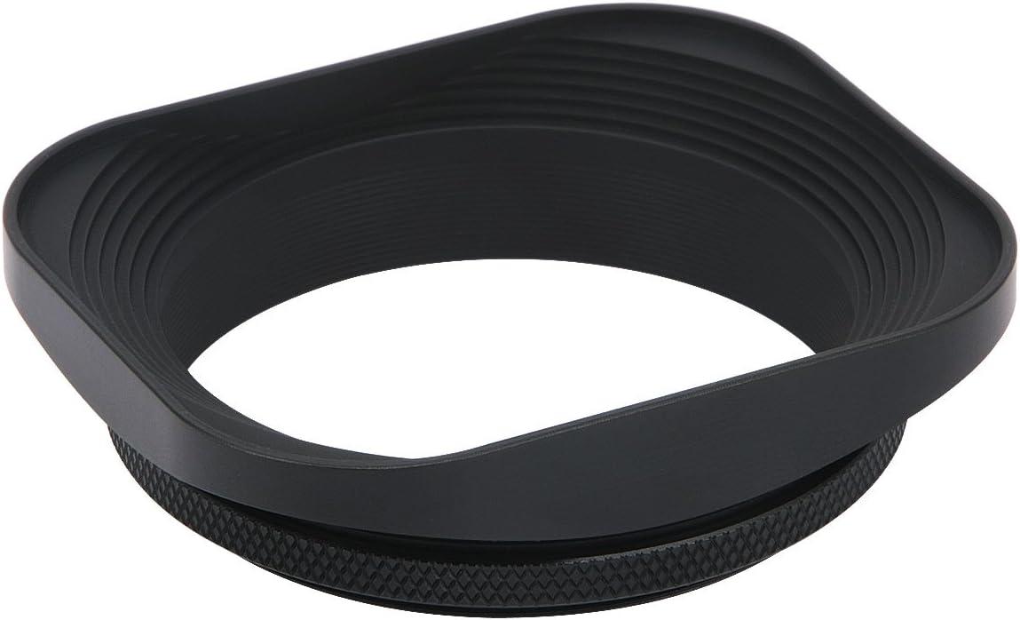 Summilux-R 50mm f//1.4 E55 Summicron-R 50mm f2 E55 Haoge 55mm Square Metal Screw-in Mount Lens Hood Shade for Leica APO-Summicron-M 90mm f//2 ASPH E55 Elmarit-R 28mm f2.8 35 mm f//2.8 E55 Lens
