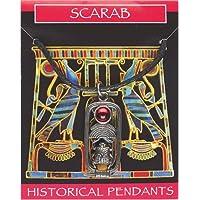 Scarab Gem Pendant Pewter - Egyptian Jewellery