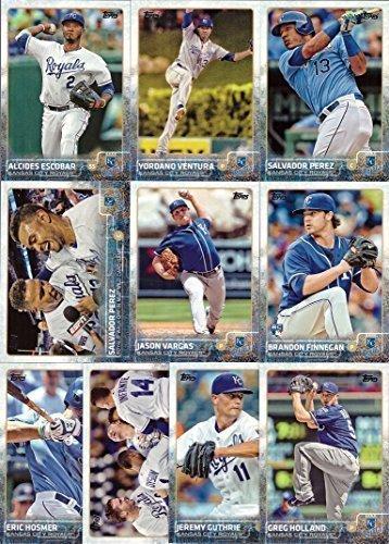 2015 Topps (Series 1 & 2) Kansas City Royals Baseball Card Team Set - 22 Card Set includes Salvador Perez, Alex Gordon, Mike Moustakas, Eric Hosmer, Lorenzo Cain, Yordano Ventura, -