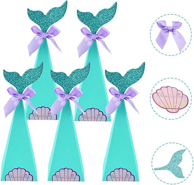 AFASOES 40 Pcs Caja de Dulces Navideñas Niños Sirena Cajitas Navidad para Chuches Cajas para Dulces de Carton Cajitas de Golosinas Cajitas de Caramelos Cajitas de Papel para Infantiles Cumpleaños: Amazon.es: Hogar