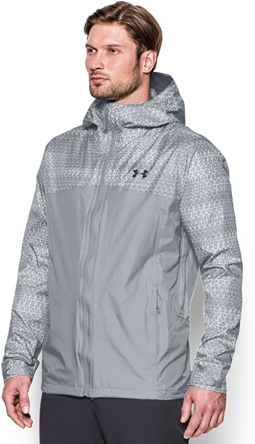 Under Armour Mens Fishing Hiking QuickDry Coat Hooded Waterproof Outdoor Jacket