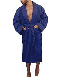 Rimi Hanger Mens Fancy 620 GSM 100% Egyptian Cotton Bath Robes Adult  Toweling Dressing Gown 942dbf06f