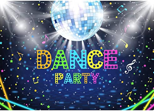 Amazon Com Allenjoy Disco Party Backdrop Shiny Neon Lights Ball 70s 80s 90s Adults Birthday Dance Party Cake Table Banner Decorations 7x5ft Vinyl Background Photo Booth Props Camera Photo