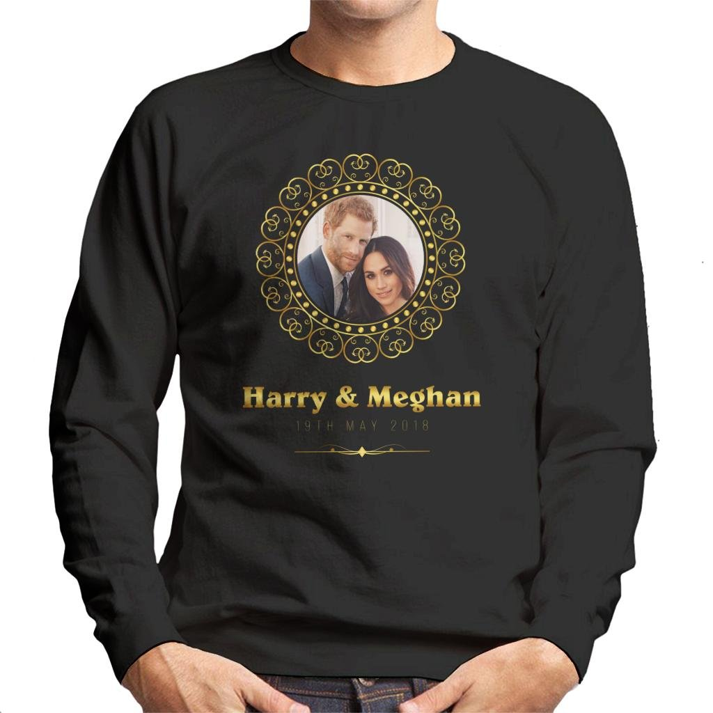 Coto7 Golden Frame Harry and Meghan Royal Wedding Men's Sweatshirt