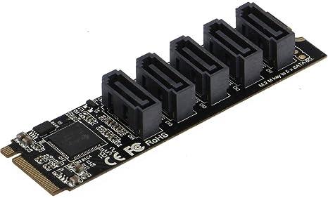 Sedna - Tarjeta Adaptador M2 (2280) PCIe M a 5 x SATA 6G ...