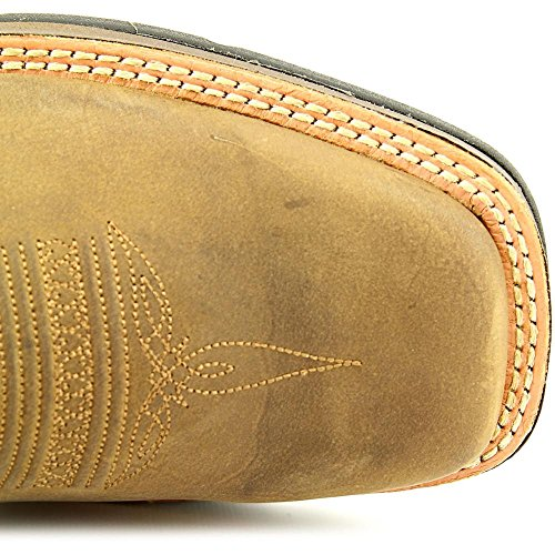 Durango Mens Rebel Pull-on Western Boots Brown/Black XCJ4UxNBNJ