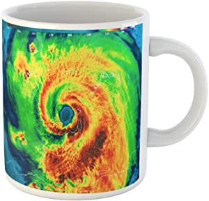 Awowee Coffee Mug Geocolor in the Eye of Hurricane Irma This Furnished 11 Oz Ceramic Tea Cup Mugs Best Gift Or Souvenir For Family Friends Coworkers