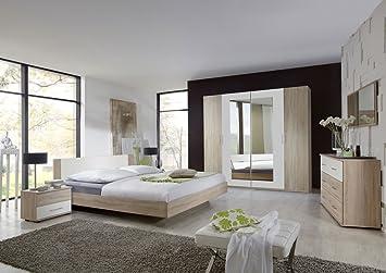 lifestyle4living 3-tlg. Schlafzimmer in Eiche sägerau-Nachb. mit Abs ...