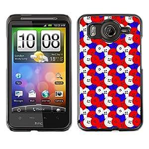ZECASE Funda Carcasa Tapa Case Cover Para HTC Desire HD G10 No.0000186