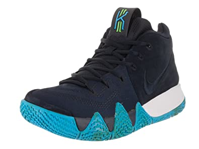 NIKE Men's Kyrie 4 Basketball Shoes (7.5, Dark Obsidian/Black)
