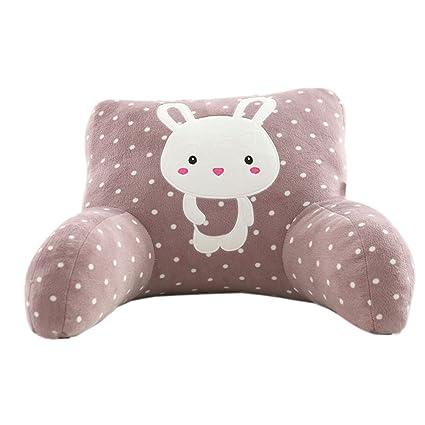 Amazoncom Mlotus Cute Rabbit Backrest Pillow Plush Child Bed Rest