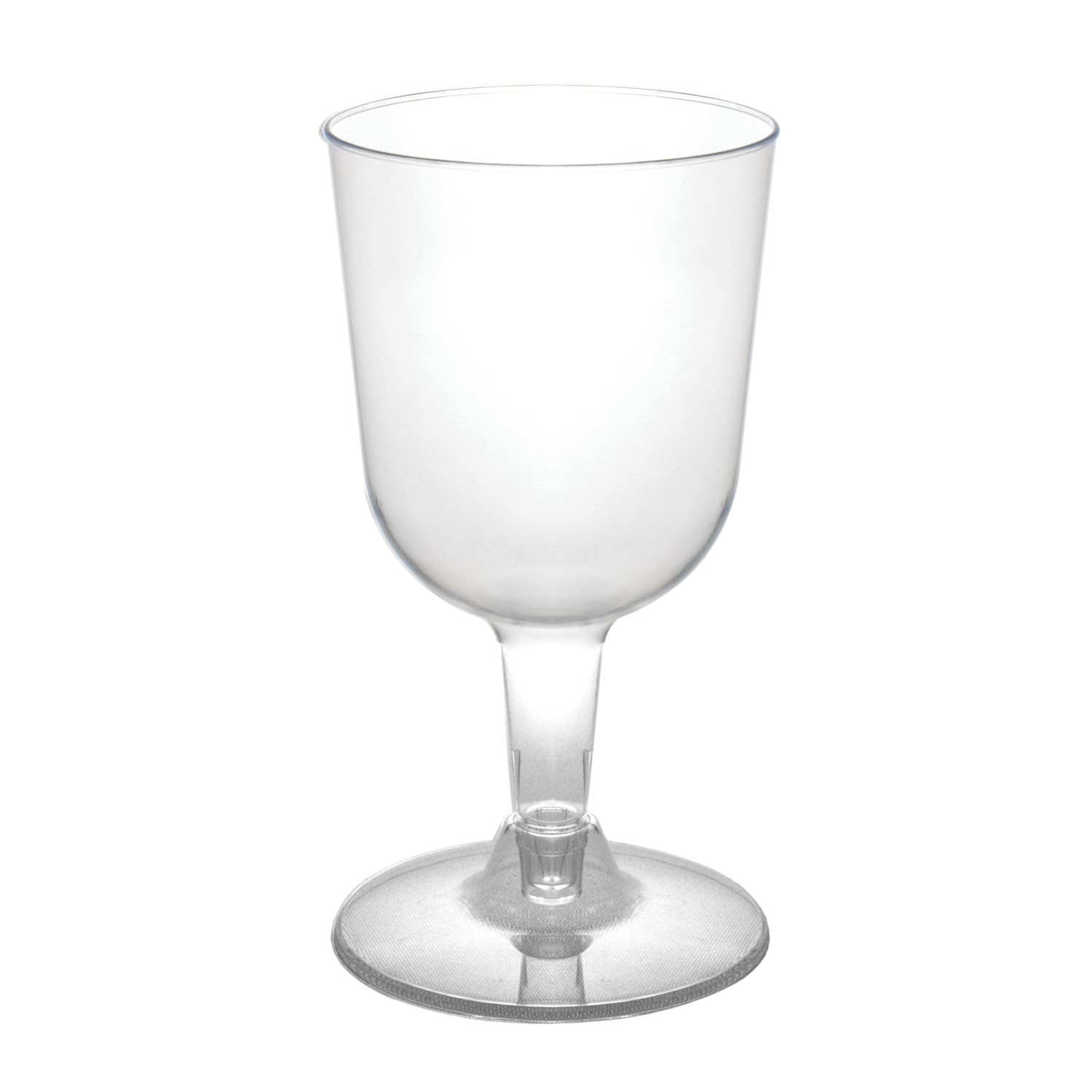 Party Essentials WINE5-10/40 Hard Plastic 2-Piece Wine Glass, 5.5-Ounce Capacity, Clear (Case of 400) by Party Essentials