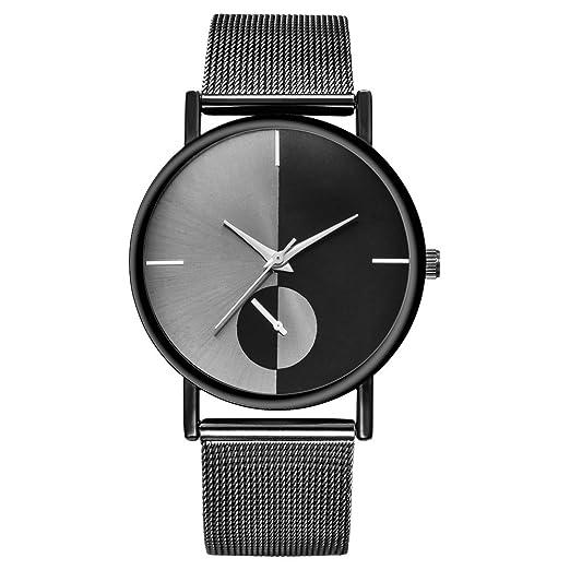 Gusspower Reloj Analógico de Cuarzo para Mujer, con Correa de Acero Inoxidable (Negro): Amazon.es: Relojes