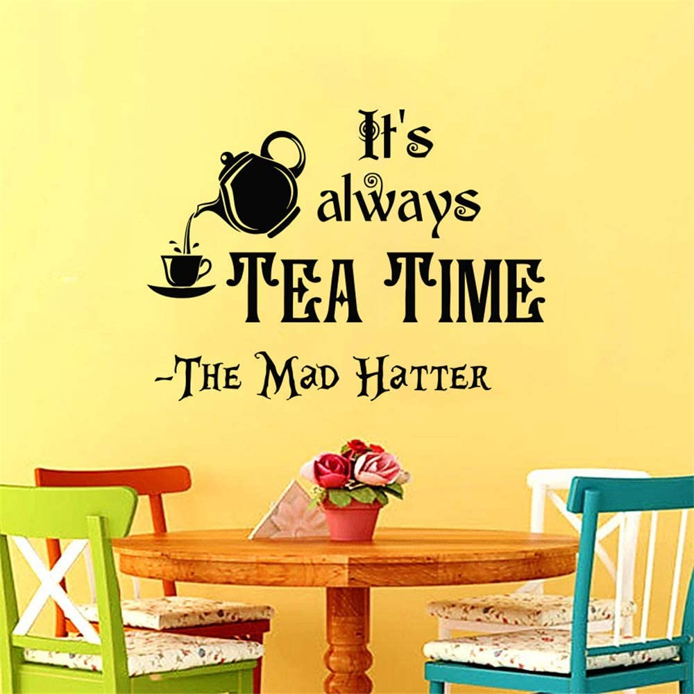 Amazon Com Its Always Tea Time Quotes Wall Decal Alice In